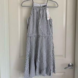 NWT Aqua Striped Halter Dress
